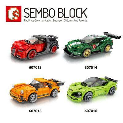 Конструктор пластиковый Спортивный автомобиль машинка Sembo Block