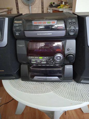 Wieża radio panasonic komplet z głośnikami