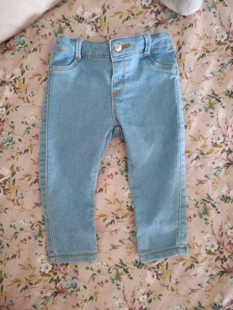 Zara jeansy 86 wąskie