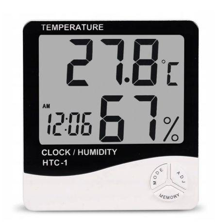 Stacja Pogody Cyfrowy Miernik Wilgoci Temperatury HTC-1 PROMOCJA