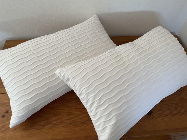 2 almofadas Ikea 40x65 Brancas e novas