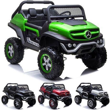 Samochód dla dzieci auto na akumulator MERCEDES Unimog 4x4 +DWUOSOBOWY