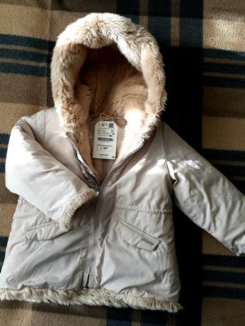 Zara демісезонна куртка, зимняя куртка, євро зима пальто для дівчинки