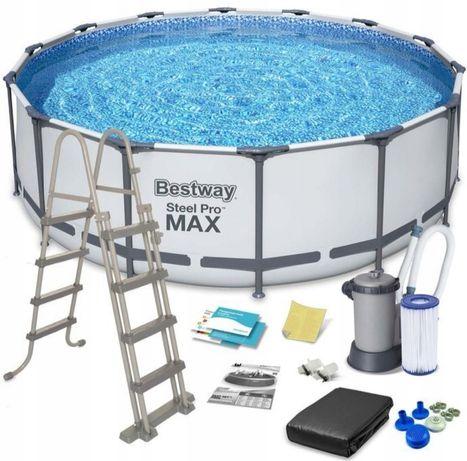 Duży Basen STELAŻOWY Bestway Steel Pro MAX 488 x 122