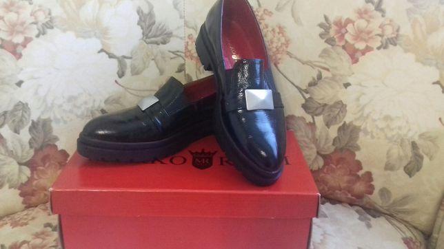 Лаковые туфли лофери marko rossi натуральная кожа