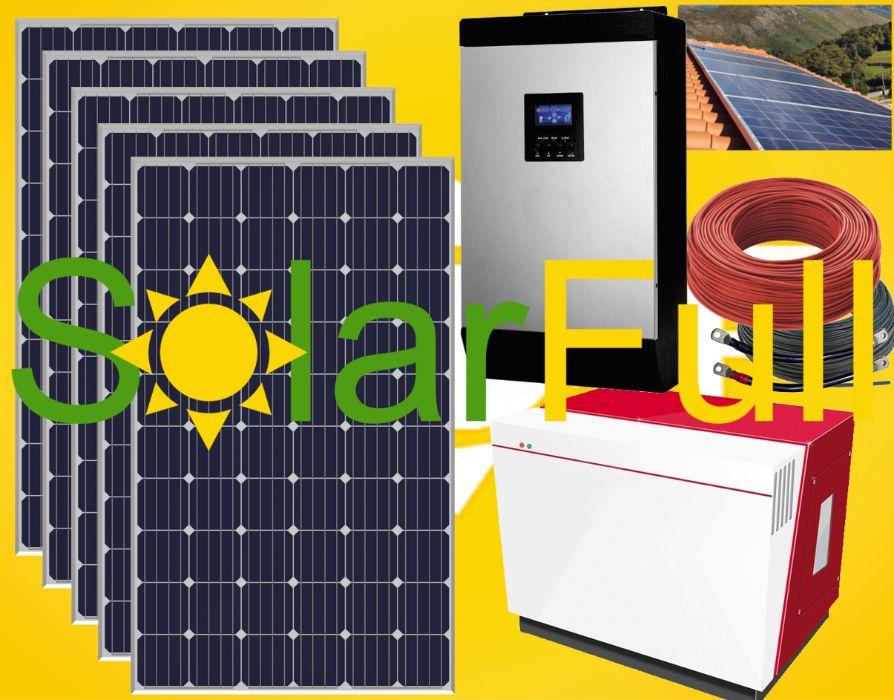 Kit - Lítio 5 kw Novo Painel solar 400w Monocristalino Prod. 2000wh Pombal - imagem 1