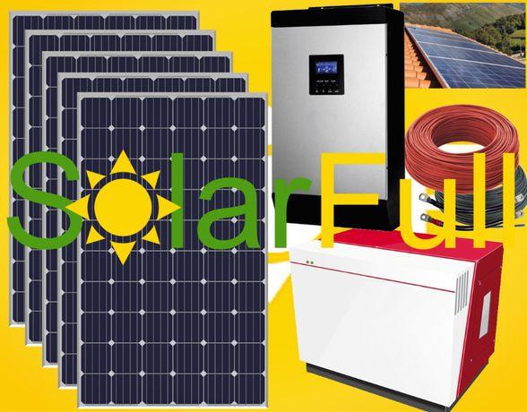 Kit - Lítio 5 kw Novo Painel solar 400w Monocristalino Prod. 2000wh