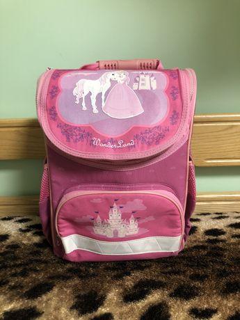 Рюзкак школьный Зиби ( Zibi) розовый с принцессой и единорогом