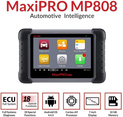 Maq. Diagnostico Auto AUTEL MaxiPRO MP808 Novo