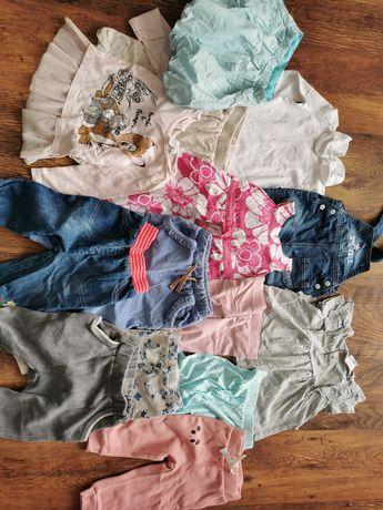 Paczka zestaw ubranek dla dziewczynki 80