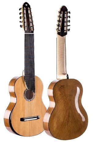 Gitara klasyczna lutnicza 10-strunowa Ancient Kauri Nylonowe struny