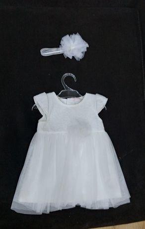 Sukienka do chrztu z bolerkiem rozmiar 62
