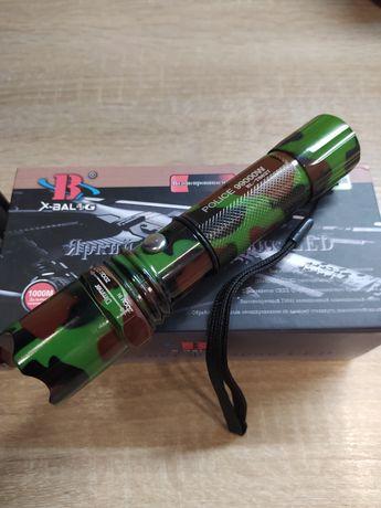 Тактический фонарь Police Bailong BL-T8627. Камуфляж! Яркий диод Q5.