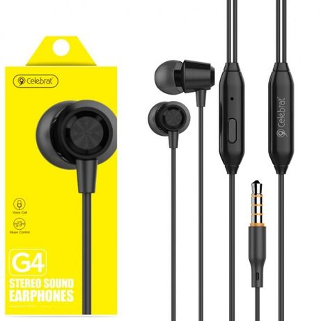 Наушники с микрофоном Celebrat G4 черные stereo sound