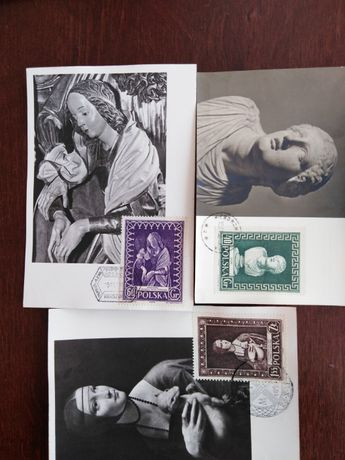 Pocztówki z lat 1950
