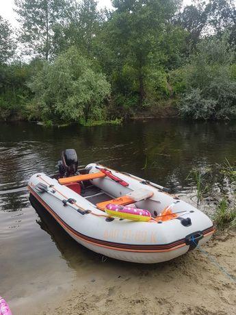 Лодка Kolibri KM-360DSL надувная килевая+ мотор Hangkai 9.9 л.с