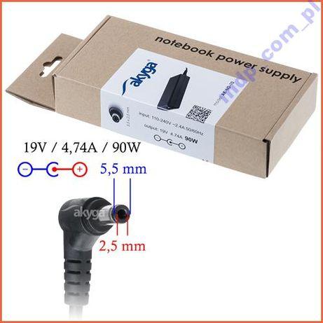 Zasilacz ASUS i TOSHIBA 19V/4.74A 90W 5.5*2.5 mm