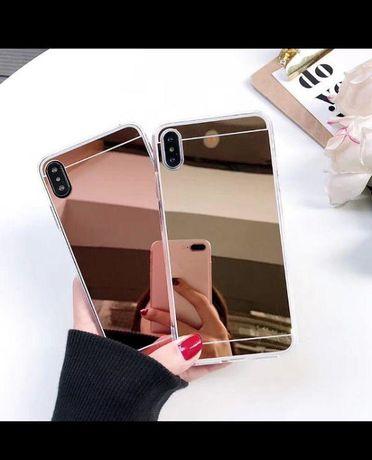 Силиконовый чехол,мягкая обложка зеркало для Huawei,Xiomi,Samsung