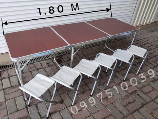 ⇒ Стол 1.80 м + 6 стульев. Раскладной столик для пикника, стіл кемпинг