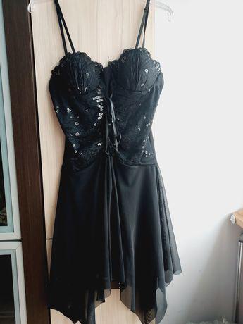 Sukienka czarna z cekinami