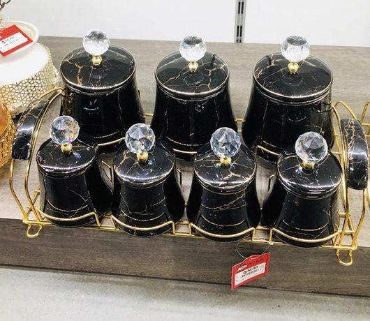 Мраморные баночки для специи набор 1900 грн посуда