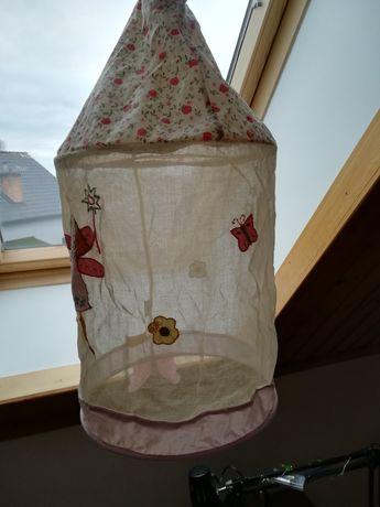 Żyrandol Lampa wisząca materiałowa