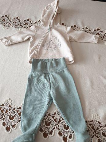 Dresik niemowlęcy H&M (półśpiochy i bluza z kapturem ) w rozmiarze 68