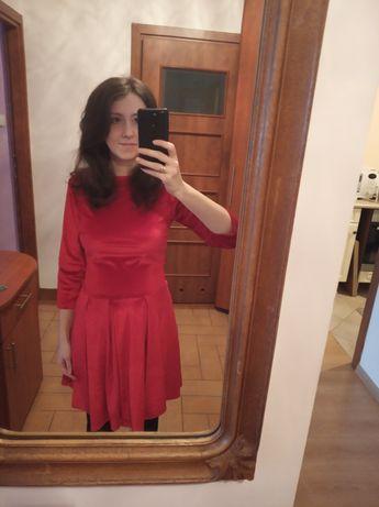 Sukienka M czerwona ciążowa