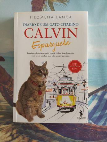 """Livro """"Calvin Esparguete: Diário de um Gato Citadino"""" , Filomena Lança"""