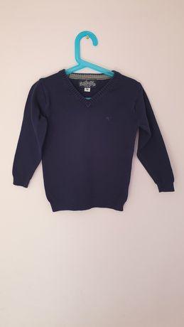 Granatowy sweter chłopięcy 5-10-15 rozmiar 116