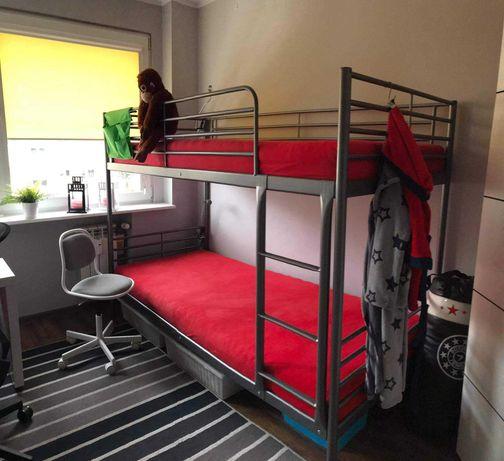 Łóżko piętrowe z materacami plus gratisy