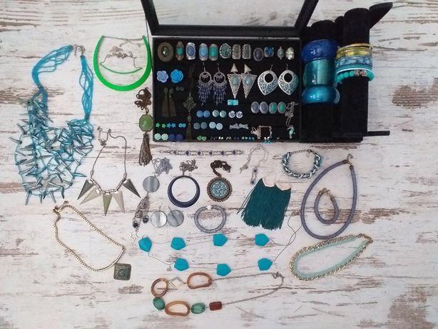 Zestaw biżuterii - mix niebiesko-turkusowy