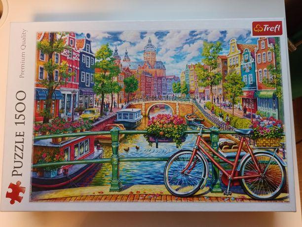 Puzzle Trefl Kanał Amsterdamski 1500 elementów kompletne