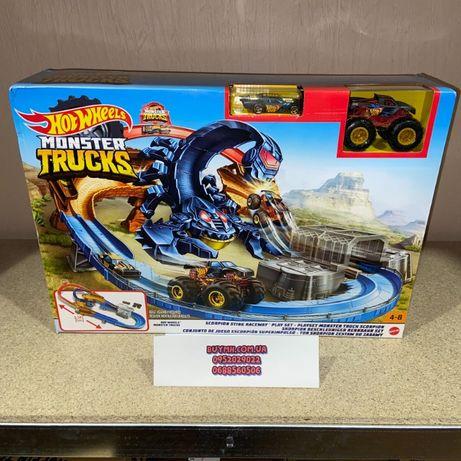 Трек Хот Вилс Hot Wheels Жало Скорпиона Scorpion Monster Trucks GNB05