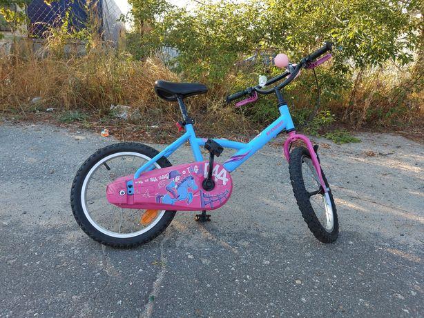 """Rower B'twin Decathlon 16 """"  dla dziewczynki"""