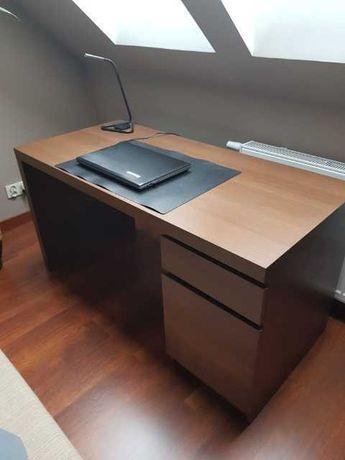 Eleganckie biurko - ciemny brąz - stan bardzo dobry