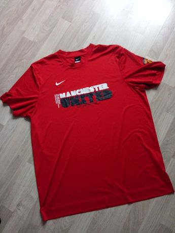 Czerwony t-shirt bluzka z krótkim rękawem Nike Manchester United XXL