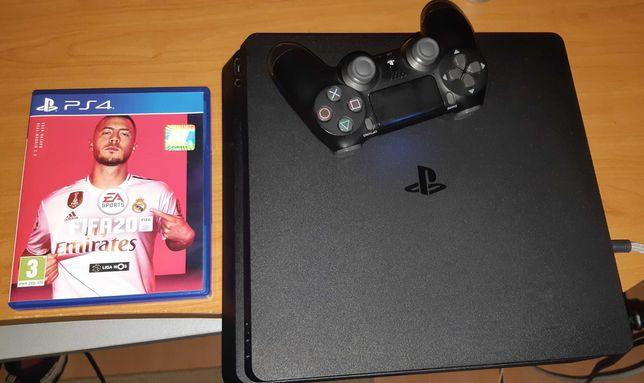 Ps4 Slim 500 GB com Comando Original e Fifa 20