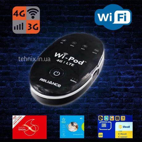 3G/4G модем WiFi роутер ZTE WD670 до 150 Мбит с антенным разъемом