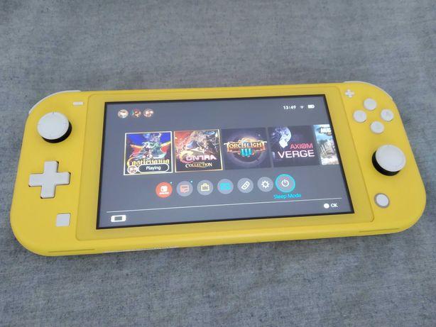 Nintendo Switch Lite żółty na gwarancji + etui