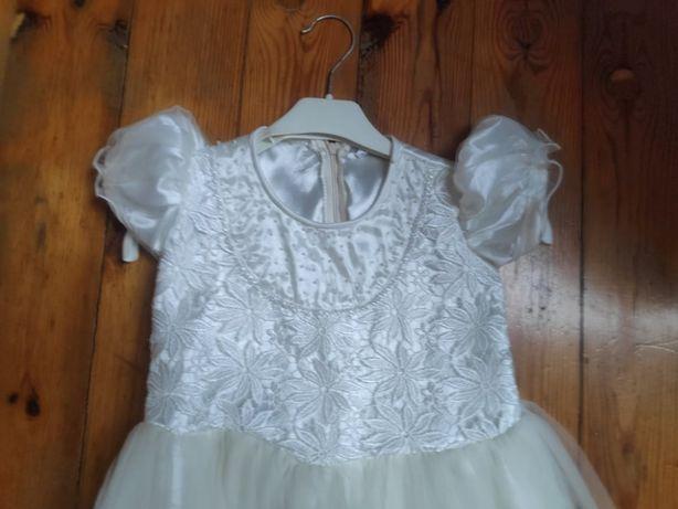 Sukienka okolicznosiowa dziewczeca z tiulu