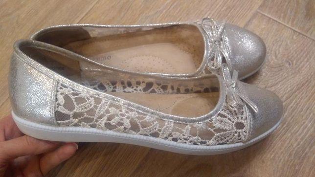 Туфли балетки bellissimo 40 р. кожаная стелька
