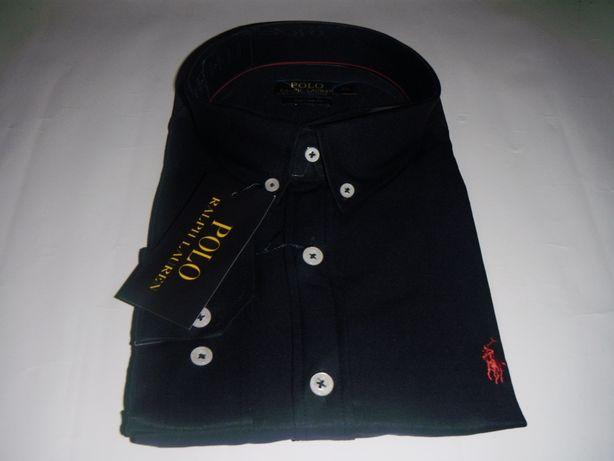 koszula polo ralph lauren custom fit granatowa