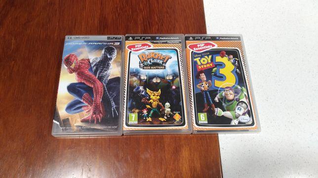 PSP caixas jogos