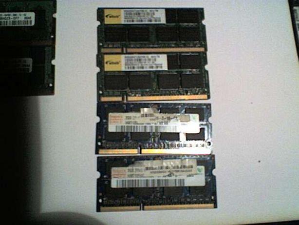 Memorias Portatil DDR 3 2x2Gb
