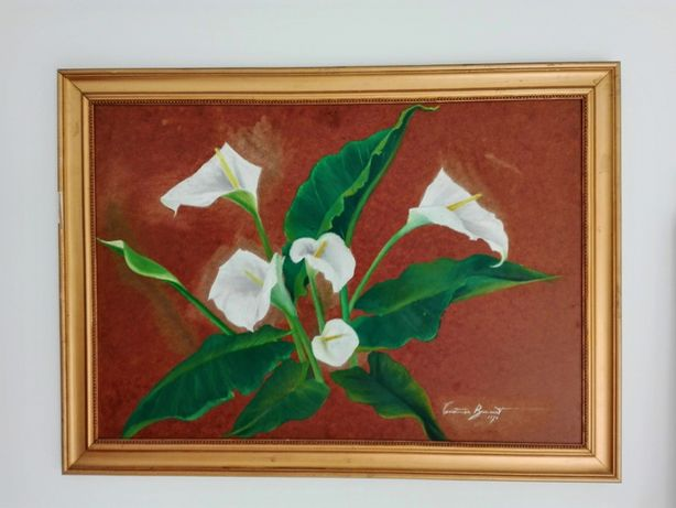 Pintura a óleo sobre Tela de Madeirada - Constança Bracourt 1987