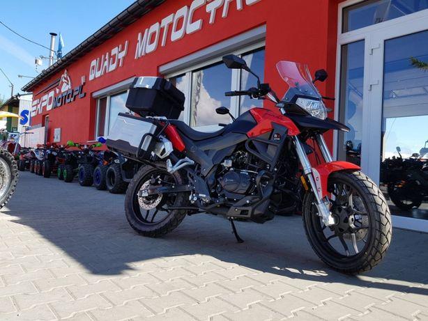 Nowy Motocykl Junak RX-ONE Czarno-Czerwony***RATY***