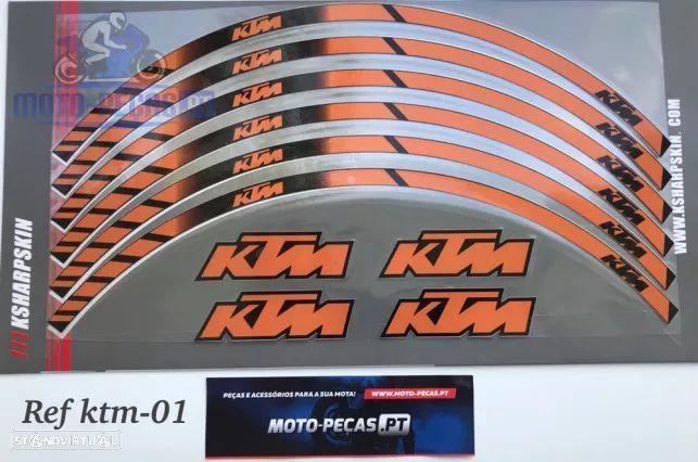 Fitas para jantes ktm autocolantes Roda Duke 690 rc8 990 smr rc 125