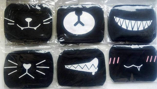 K-POP BTS SUGA, Naruto, SAO Черная маска Аниме, Корейская маска