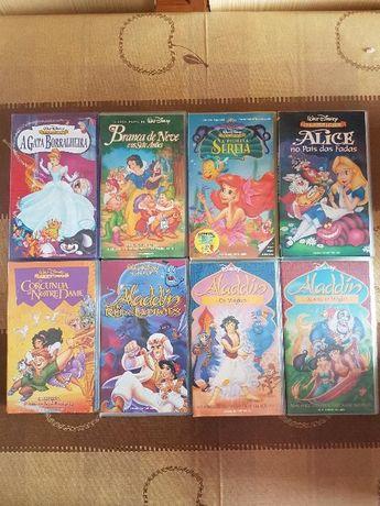 Cassetes VHS - Filmes Disney e DreamWorks Pictures (CONJUNTO)
